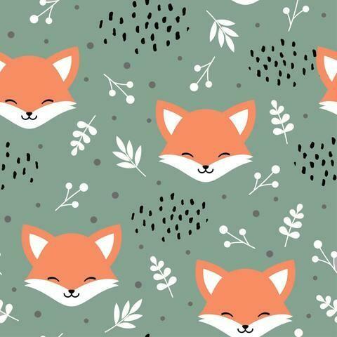 French Terry - Sleepy Fox Sage