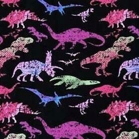 Cotton Lycra Jersey - Dinosaur Grunge Cotton Candy