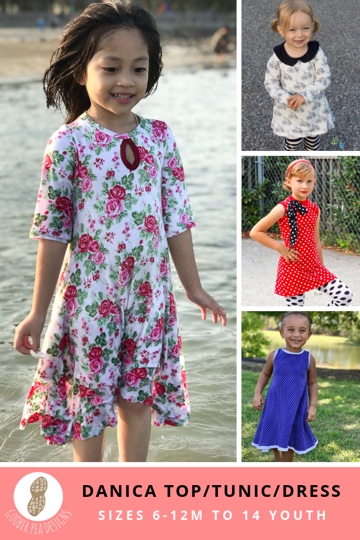 Danica Top/Tunic/Dress (PDF Pattern & Tutorial) - Goober Pea Designs