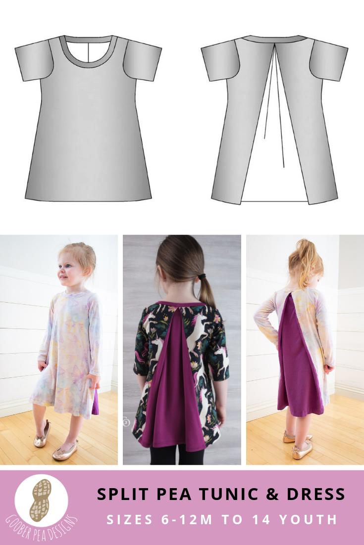 Split Pea Tunic & Dress (PDF Pattern & Tutorial) - Goober Pea Designs
