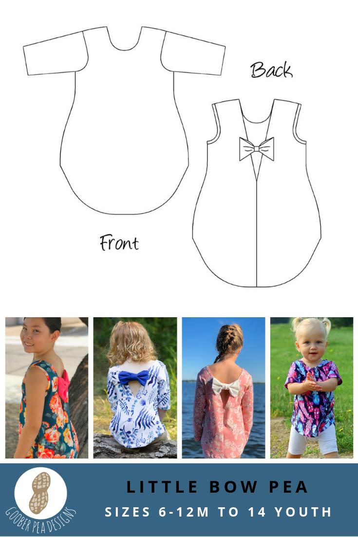 Little Bow Pea (PDF Pattern & Tutorial) - Goober Pea Designs