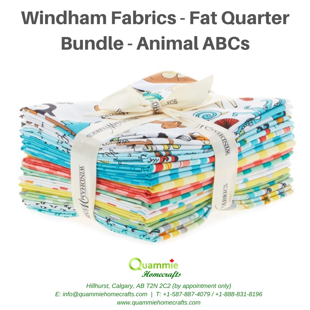Windham Fabrics Fat Quarter Bundle - Animals ABC - 13 piece