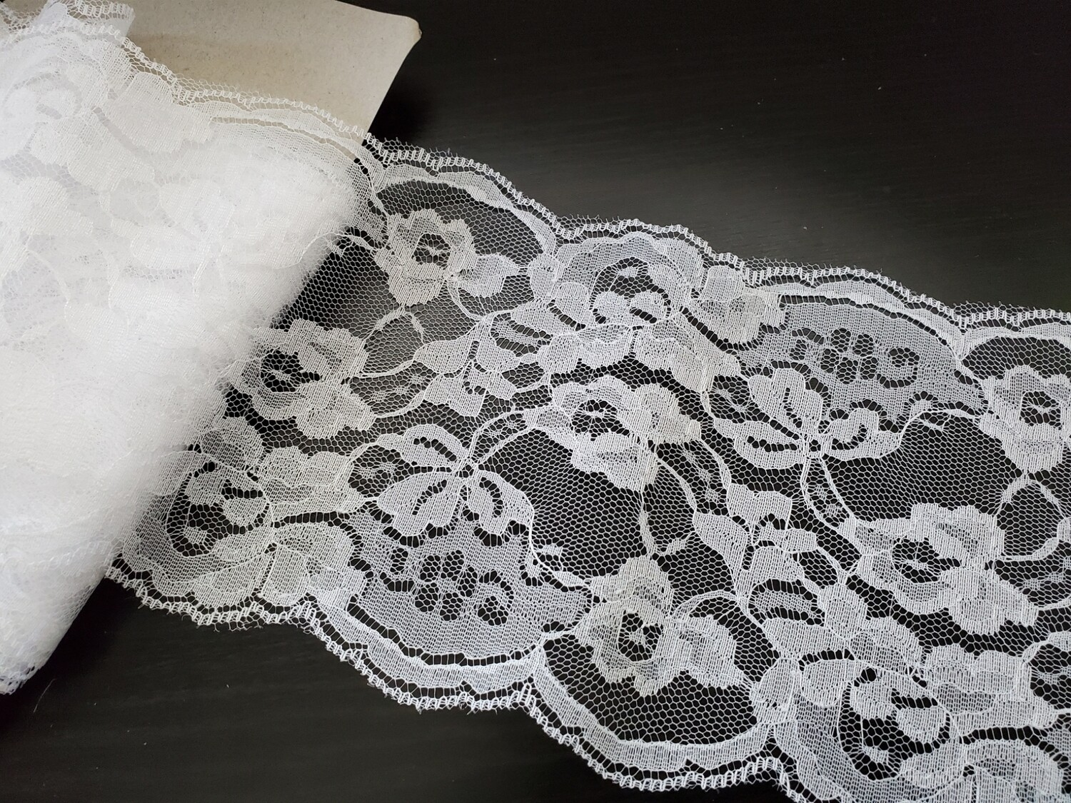 Lace Trim, White - 5 1/2""