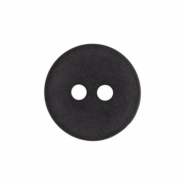 "Buttons, 24L (5/8"") - 2-hole - 12 pack - Black"