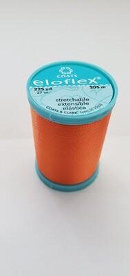 Coats Eloflex Stretchable Thread, 225yds - Orange (7640)