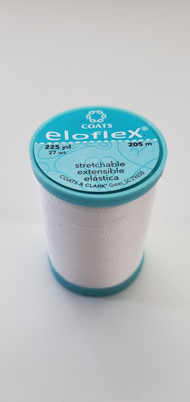 Coats Eloflex Stretchable Thread, 225yds - White (100)