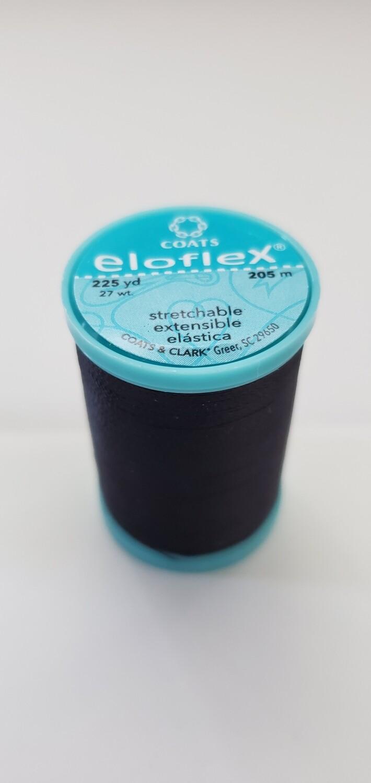 Coats Eloflex Stretchable Thread, 225yds - Black (900)