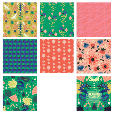 Cloud9 Dragons & Lanterns Quilting Cotton - PREORDER - Closes 31 Oct 2020