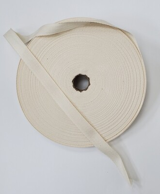 "Twill Tape, Cotton - 1/2"""