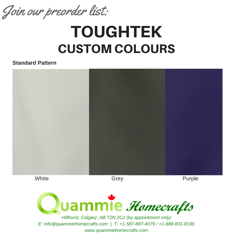 PREORDER (Ongoing): Toughtek Non Slip Fabric - Custom Colours (White, Purple, Grey)