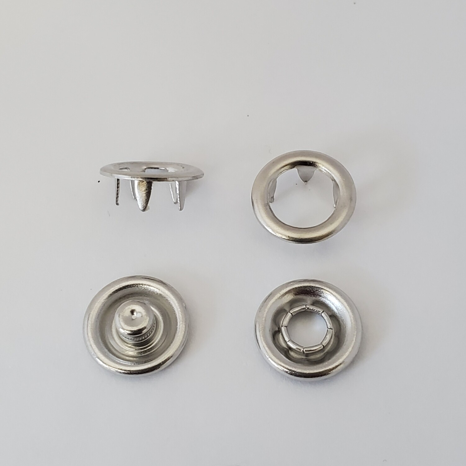Open Ring Metal Prong Snaps - 11mm / Size 16