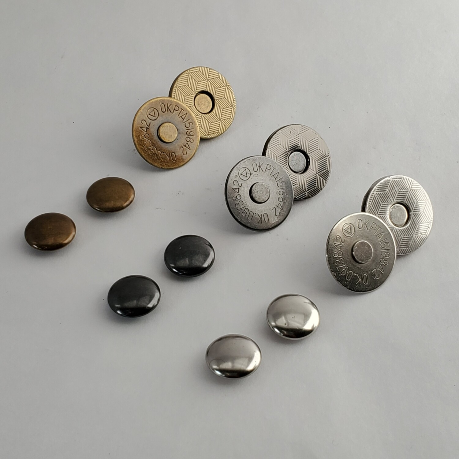 Magnetic Rivet Snaps, Thin - 14mm or 18mm