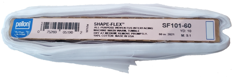 "Interfacing - Woven Fusible - White, 60"" x 18"" (Pellon SF101 - Shape Flex)"