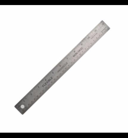 """Steel ruler - non-skid (30cm / 12"""")"""