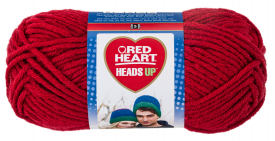 Red Heart - Heads Up, True Red