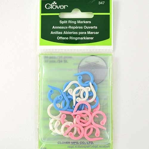 Split Ring Stitch Markers, 24 pack - Clover