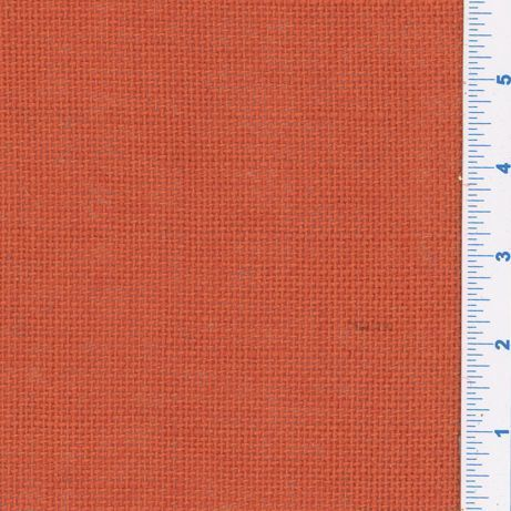 Burlap - Dyed, Solid - Orange