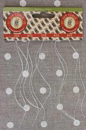 Fil Au Chinois Lin Câblé Thread Thickness Sample Card