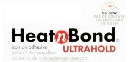 "Heat N Bond Ultrahold (No Sew Iron On Adhesive) - per 12"""
