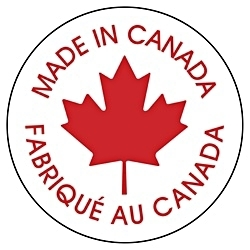 """""""Made In Canada"""" Stickers - 1"""" - 10 pack"""
