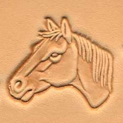 Horse Head 3-D Stamp (Left)