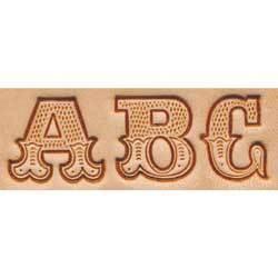 "Craftool 3/4"" (19 mm) Leather Art Alphabet Set"