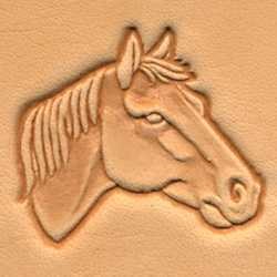 Horse Head Craftool 3-D Stamp (Right)