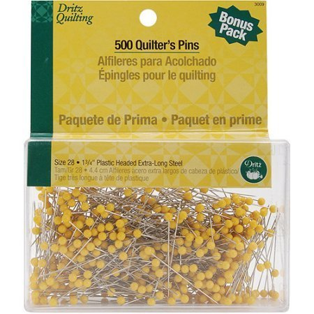 "Dritz Quilter's pins, 1.75"" - 500 pack"