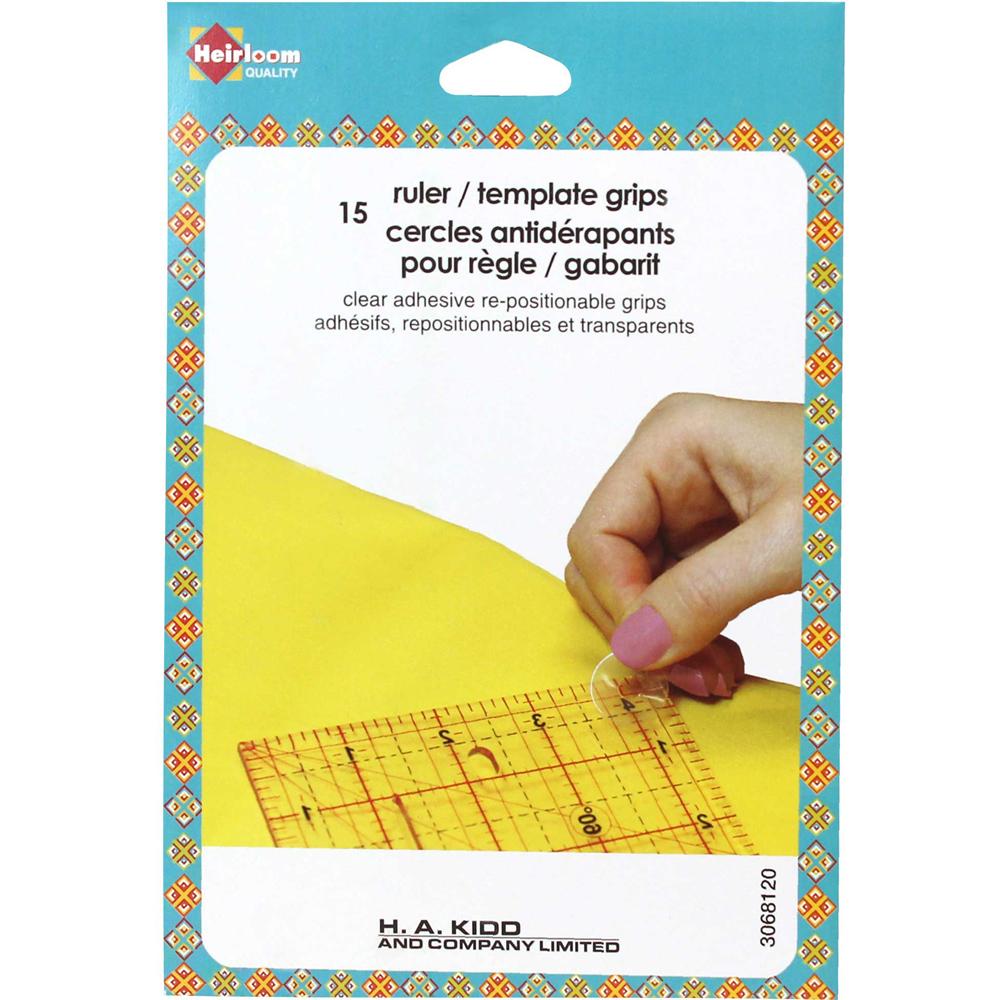 Ruler grips - repositionable