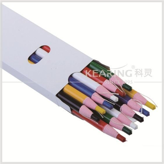 Coloured Wax Pencil (China marker) - Peel Off (Kearing) - 12 pk