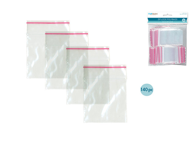"""2"""" x 2"""" Recloseable Polybags - 140pc"""