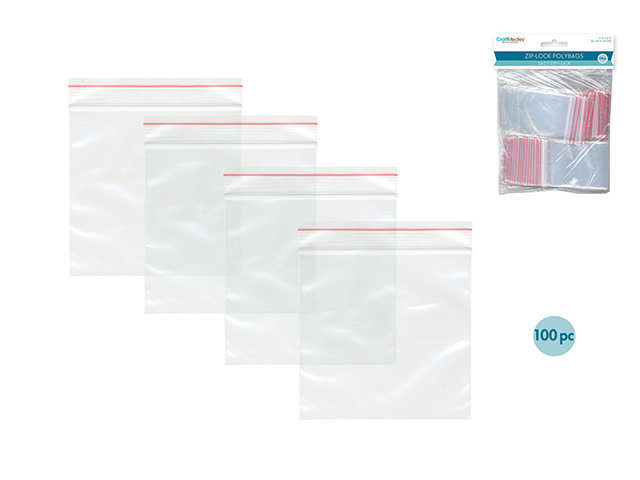 """2"""" x 3"""" Recloseable Polybags - 100pc"""