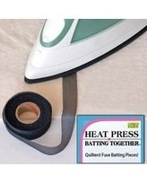 "Heat Press Batting Together - Black, 3/4"" x 10 Yards"