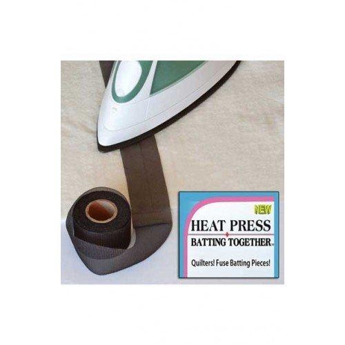"""Heat Press Batting Together - Black, 1.5"""" x 10 Yards"""