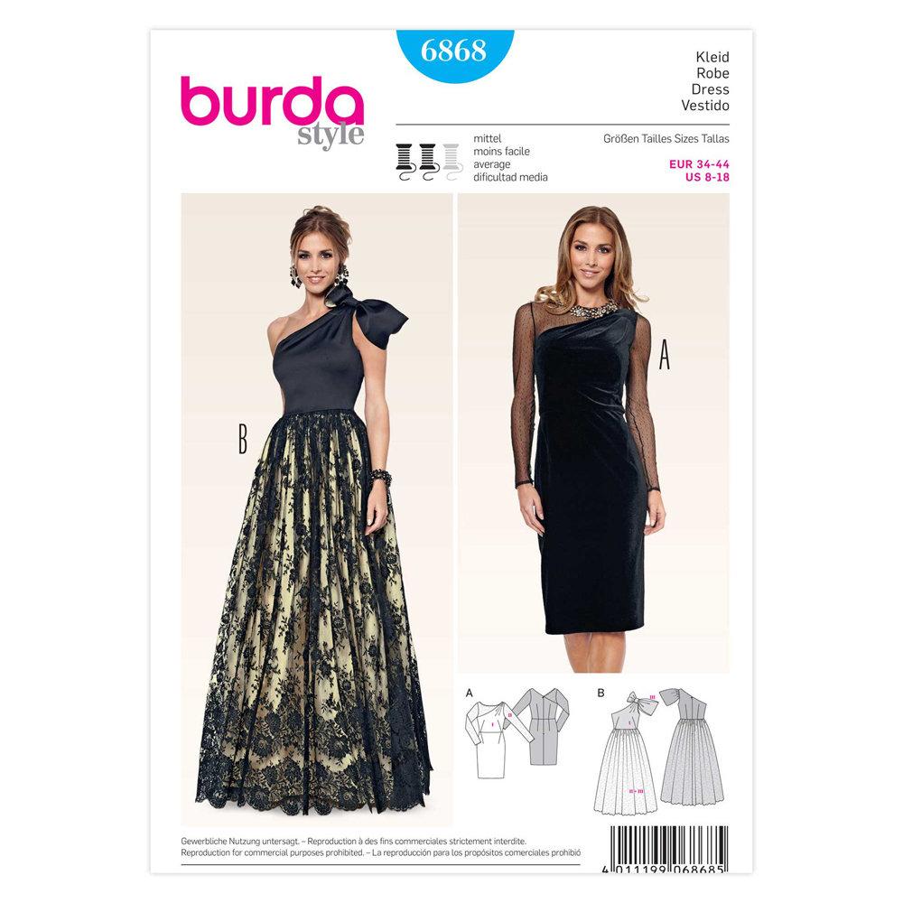 Ladies, Dress (Evening / Formal) - Burda 6868