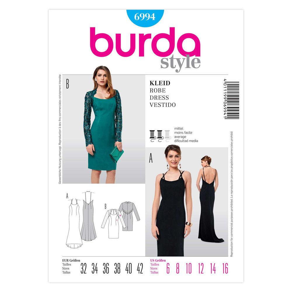 Ladies, Dress - Burda 6994