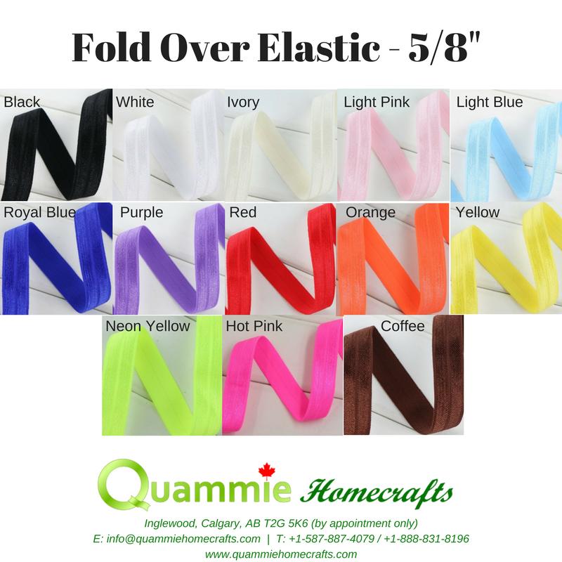 """Foldover / Fold Over Elastic - 5/8"""""""