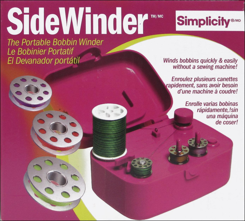 Simplicity SideWinder Portable Bobbin Winder - Fuschia