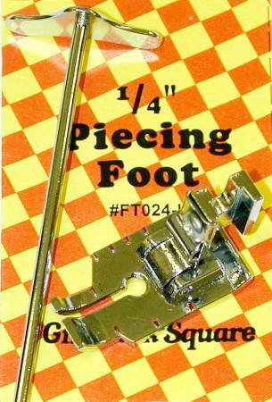 "1/4"" Piecing Foot with Guide Bar (Low Shank) - Gingham Square (FT024-L)"