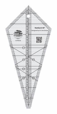 Starburst 30 Degree Triangle Ruler - Creative Grids
