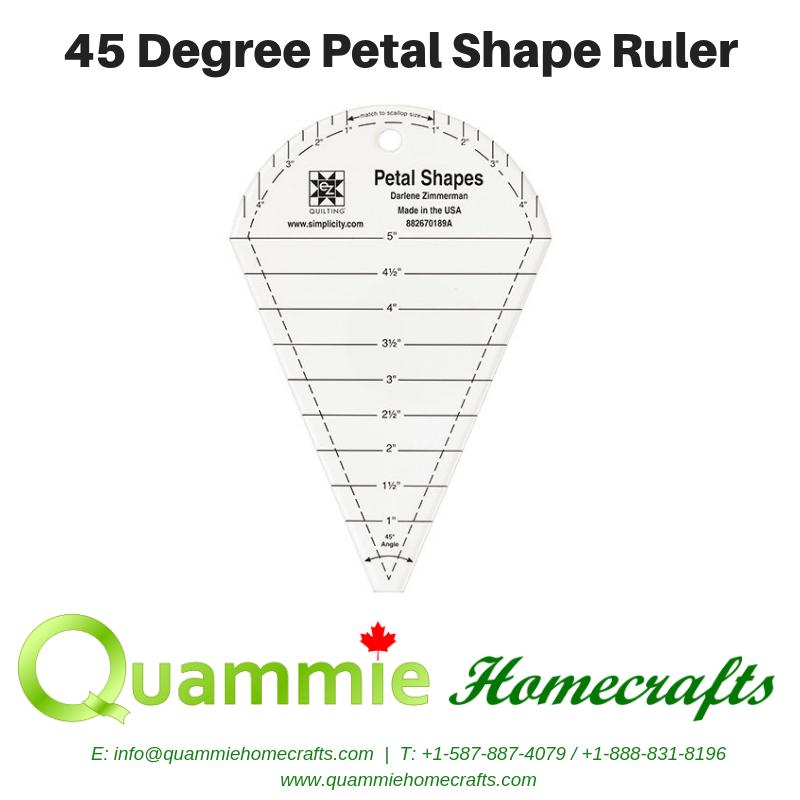 EZ Quilting Petal Shape Ruler - 45 Degree