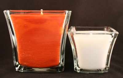 Square Glass Container Candles
