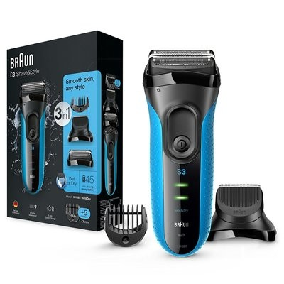 Braun Series 3 - 3010BT Shave & Style 3-in-1 raseerija, sinine