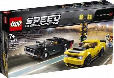 LEGO® Speed Champions 75893 2018 Dodge Challenger SRT Demon and 1970 Dodge Charger R/T 75893