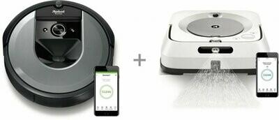 iRobot Roomba i7 - robottolmuimeja+ iRobot Braava M6 -pesurobot