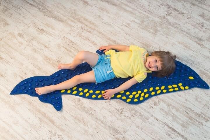 """Massaažimatt jalgadele IGORA FOOT MAT """"Dolphin"""" 150 х 40 сm, MS-1216"""
