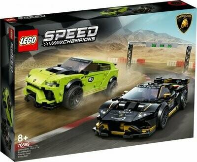 LEGO Speed Champions 76899 - Lamborghini Urus ST-X & Lamborghini Huracan Super Trofeo EVO
