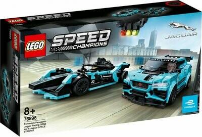 LEGO Speed Champions 76898 - Formula E Panasonic Jaguar Racing GEN2 car & Jaguar I-PACE eTROPHY