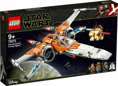 LEGO Star Wars 75273 - Poe Dameron with this X-wing fighter