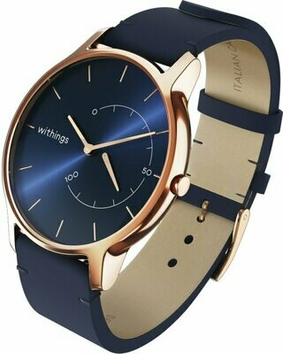 Withings Move Timeless Chic - nutikell, sinine nahast kellarihm, HWA06M-Timeless Chic-model 3-RET-Int